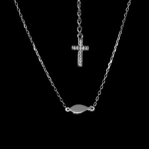 Infinity Tiny Symbol Necklace – Pre-Christian Origins – Rhodium